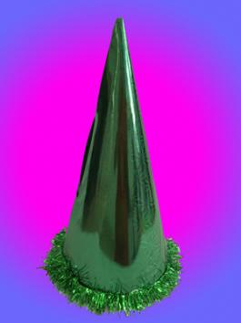 כובע ליצן קונוס ירוק