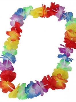 שרשרת הוואי צבעוני רגיל