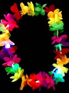 שרשרת הוואי צבעוני זוהר באולטרה