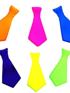 עניבה קצרה צבע אחיד