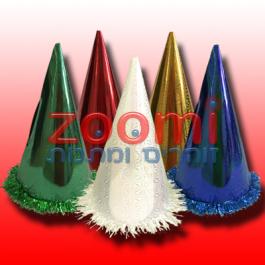 """כובע ליצן קונוס – 27 ס""""מ – מגוון צבעים"""