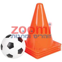 ערכת אימון לקטנים – מיני כדורגל עם קונוסים