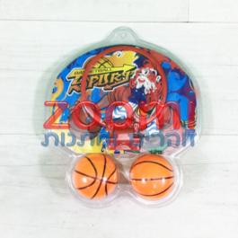 מיני כדורסל  – לוח, סל ושני כדורים