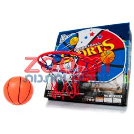 לוח כדורסל בינוני עם כדור ומשאבה
