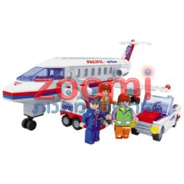 מטוס נוסעים עם רכב שירות