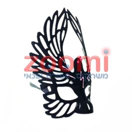 מסיכה שחורה עם כנפי ציפור